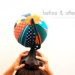 BEFORE & AFTER: GLOBO TERRÁQUEO CON TELAS